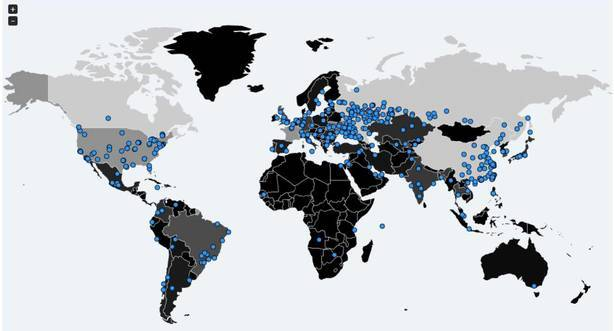Ciberataque Global Malware Mapa