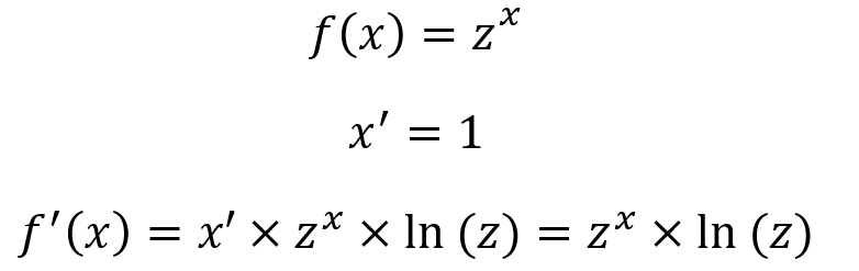 Derivada De Funcion Exponencial Ejercicio X Z 1