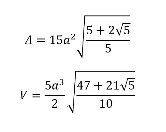 Dodecaedro Formula