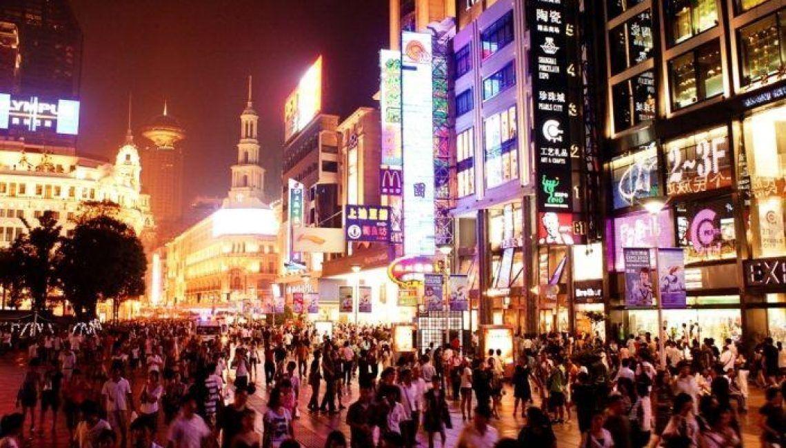Calles de Shanghai noche China