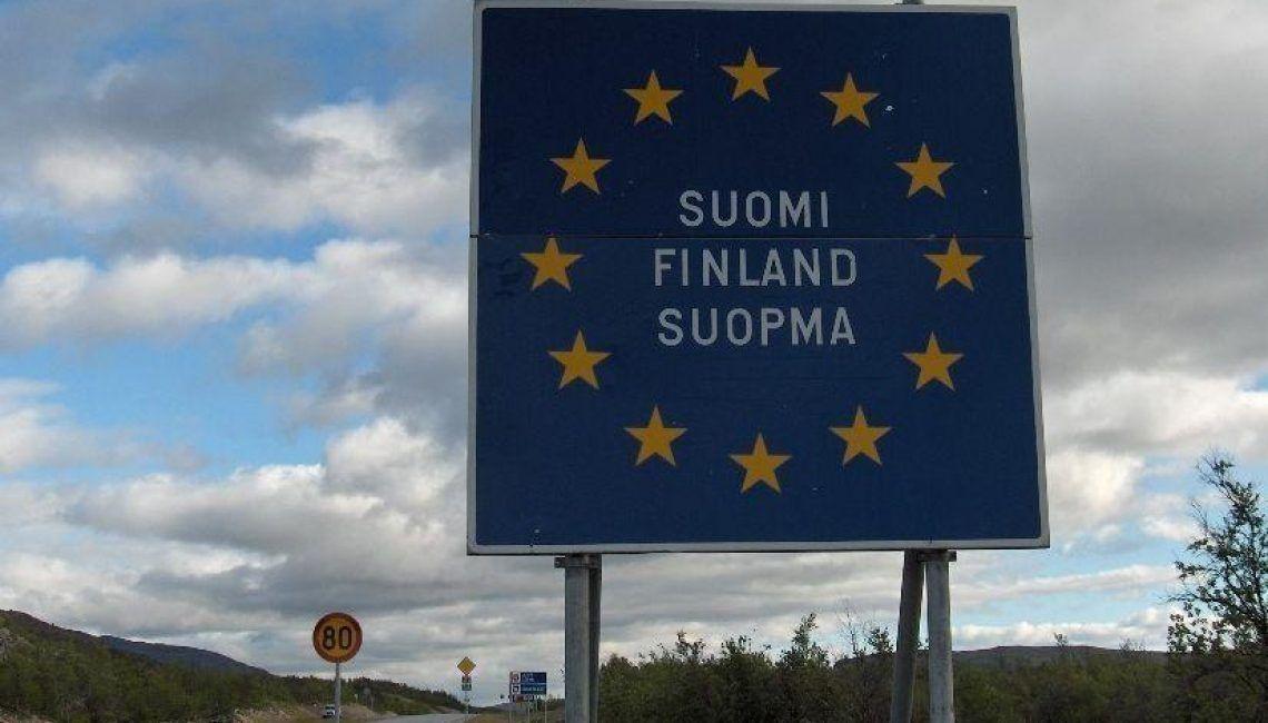 Frontera de Finlandia Bandera Unión Europea