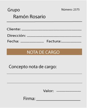 Nota De Cargo