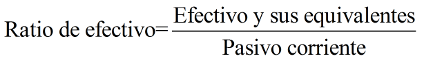 Ratio De Efectivo